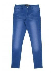 Older Girls Bright Blue Skinny Jeans