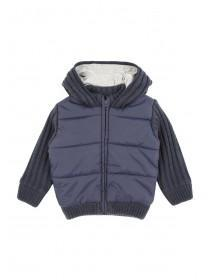 Younger Boys Mix Padded Knit Zip Through