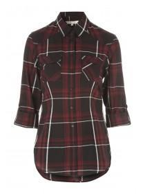 Womens Check Roll Up Sleeve Shirt
