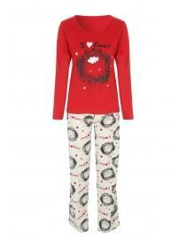 Womens Slogan Pyjama Set
