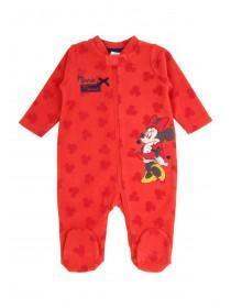 Baby Girl Minnie Fleece Sleepsuit