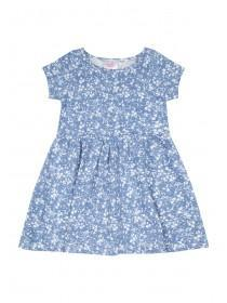Younger Girls Blue Jersey Dress