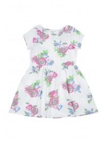 Younger Girls White Jersey Dress