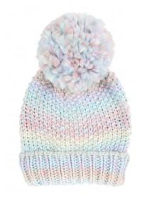 Younger Girls Multi Coloured Pom Pom Hat