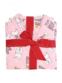 Womens Pink Printed Pyjamas