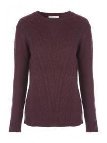 Womens Crew Neck Cable Knit Jumper