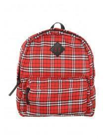 Womens Red Printed Ziparound Rucksack