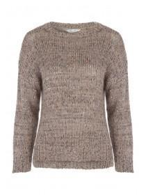 Womens Chunky Sequin Jumper