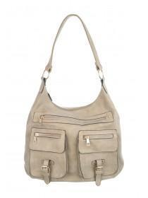 Womens Natural Military Shoulder Bag