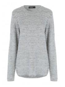 Mens Grey Crew Neck Jumper