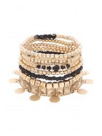 Womens Gold Gypsy Multi Bracelet