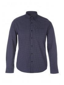 Mens Dark Blue Geo Shirt