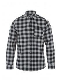 Mens Black Flannel Check Shirt