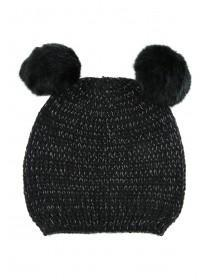 Older Girls Double Pom Pom Hat