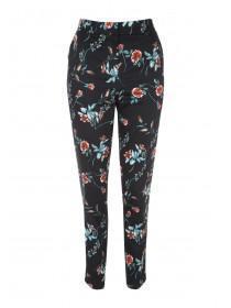 Womens Floral Cigarette Pants