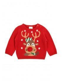 Baby Boy Reindeer Jumper