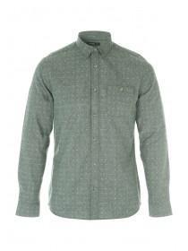 Mens Brushed Green Long Sleeve Shirt