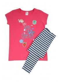 Older Girls Hot Pink Leggings Pyjamas