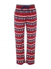 Mens Red Fleece Pyjama Bottoms