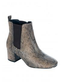 Womens Snake Ankle Boot