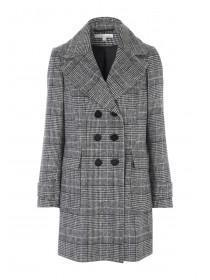 Womens Check Peacoat