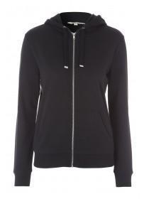 Womens Black Zip Sweater