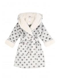 Girls Grey Sherpa Robe