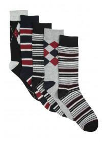 Mens 5pk Design Socks