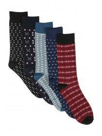 Mens 5pk Patterned Socks