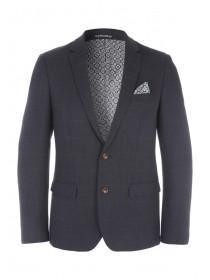 Mens Brisley And Green Elbow Patch Wool Jacket