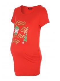 Womens Maternity Elf slogan T-Shirt