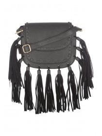 Womens Black Kendal Tassel Bag