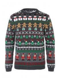 Mens Repeat Pattern Christmas Jumper