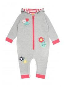 Baby Girls Hooded Onesie