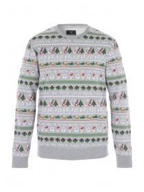 Mens Festive Print Sweater