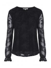 Womens Black Lace Top