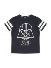 Older Boys Dark Blue Darth Vader T-Shirt