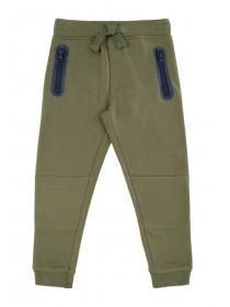 Younger Boys Khaki Zip Joggers