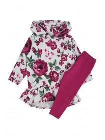 Younger Girls Floral Hoody Set