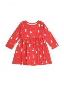 Baby Girls Red Christmas Dress