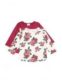 Baby Girls 2pk Rose T-Shirts