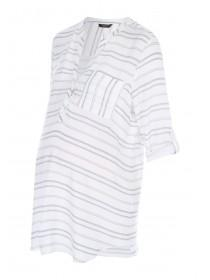 Maternity White Stripe Shirt