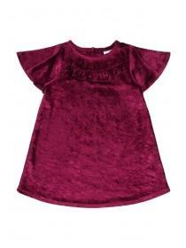 Baby Girls Velour Frill Dress