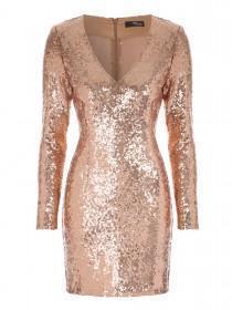 Jane Norman Bronze Sequin Bodycon Dress