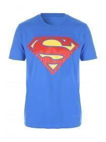 Mens Mid Blue Superman Lounge T Shirt