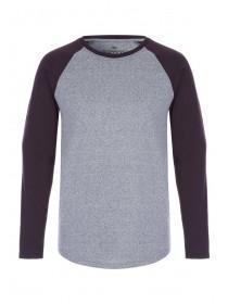 Mens Grey Long Sleeve T-Shirt