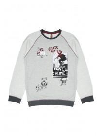 Older Boys Skater Crew Neck Sweater
