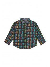Younger Boys Robot Print Shirt Set