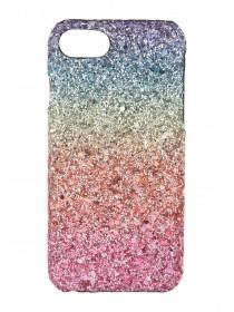 Womens Multicolour Ombre Glitter Rainbow Case