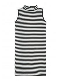 Older Girls Black Striped Tube Dress